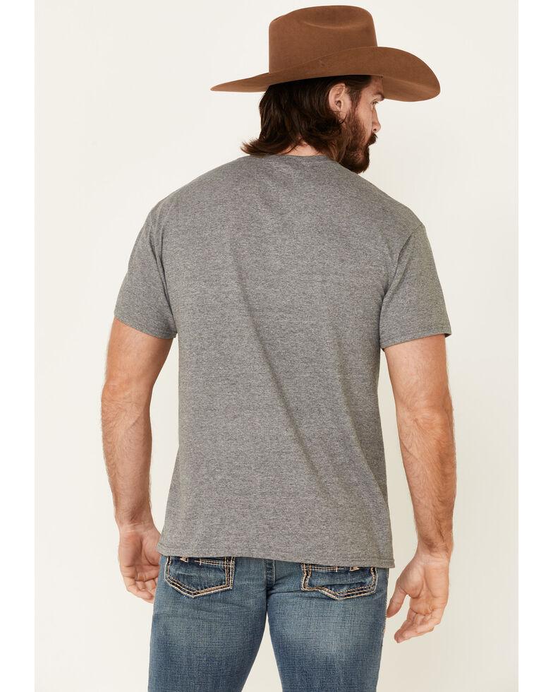 Wrangler Men's Grey Flag Graphic Short Sleeve T-Shirt , Grey, hi-res