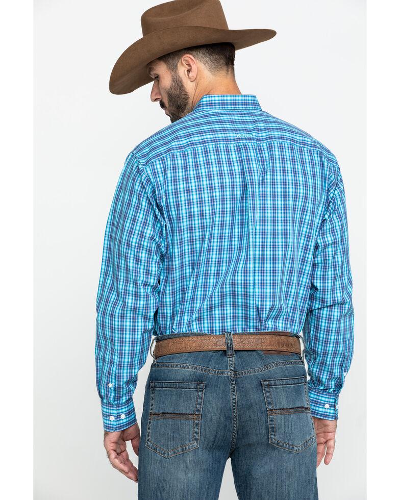 Ariat Men's Wrinkle Free Pelham Small Plaid Long Sleeve Western Shirt - Tall , , hi-res