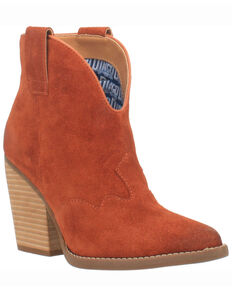 Dingo Women's Rust Flannie Fashion Booties - Round Toe, Rust Copper, hi-res
