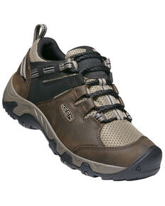 Keen Men's Canteen & Bridle Steens Vent Lace-Up Waterproof Hiking Shoe , Brown, hi-res