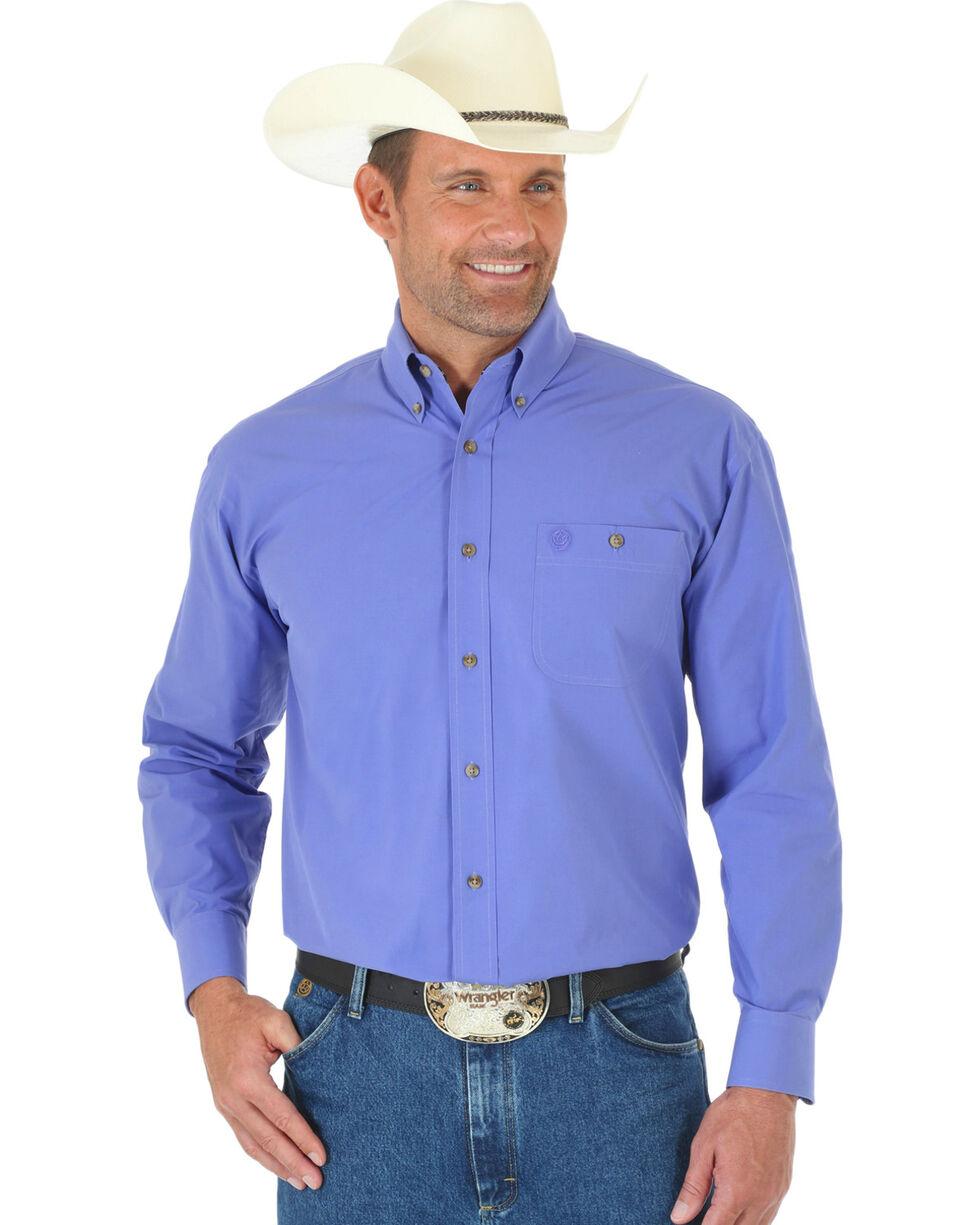 Wrangler George Strait Men's Purple Long Sleeve Shirt - Big & Tall, Purple, hi-res