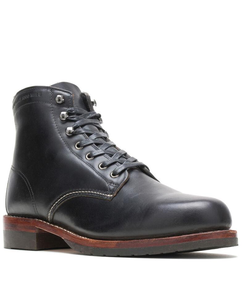 Wolverine Men's Evans 1000 Mile Work Boots - Soft Toe, Black, hi-res