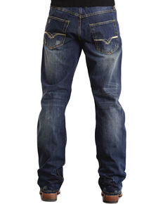 "Stetson 1520 Fit ""V"" & ""X"" Stitched Jeans - Big & Tall, Dark Stone, hi-res"