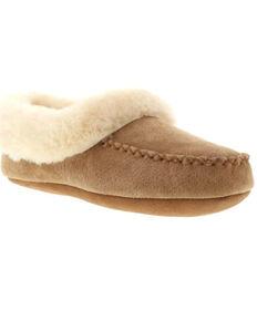 Lamo Women's Australian Bootie Slippers - Moc Toe, Chestnut, hi-res