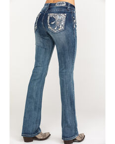Grace in LA Women's Light Wash Mid Dreamcatcher Bootcut Jeans , Blue, hi-res
