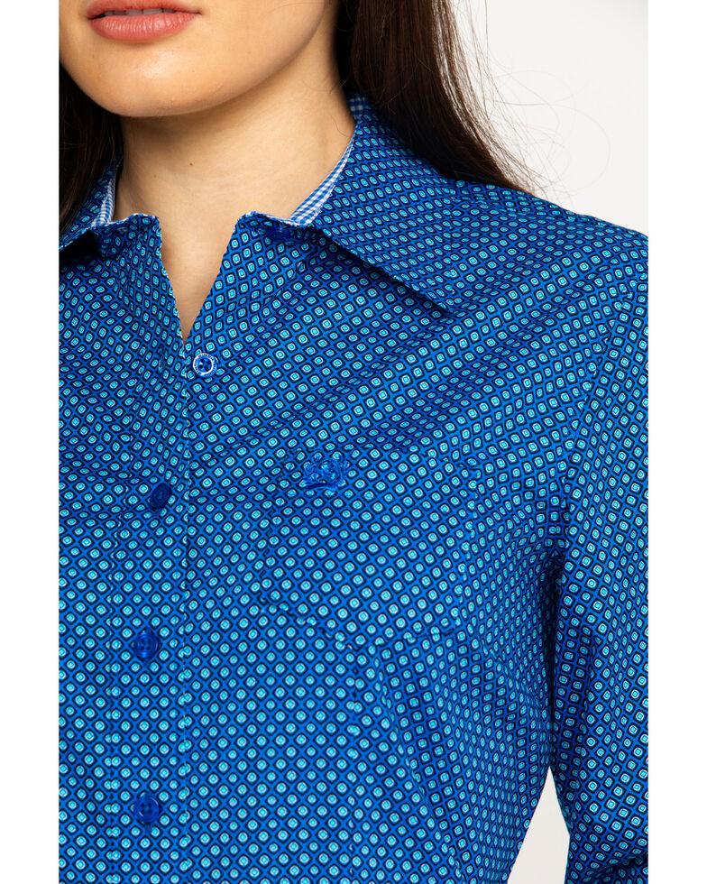 8502c876f0a Cinch Women s Dotted Geo Print Logo Long Sleeve Western Shirt ...