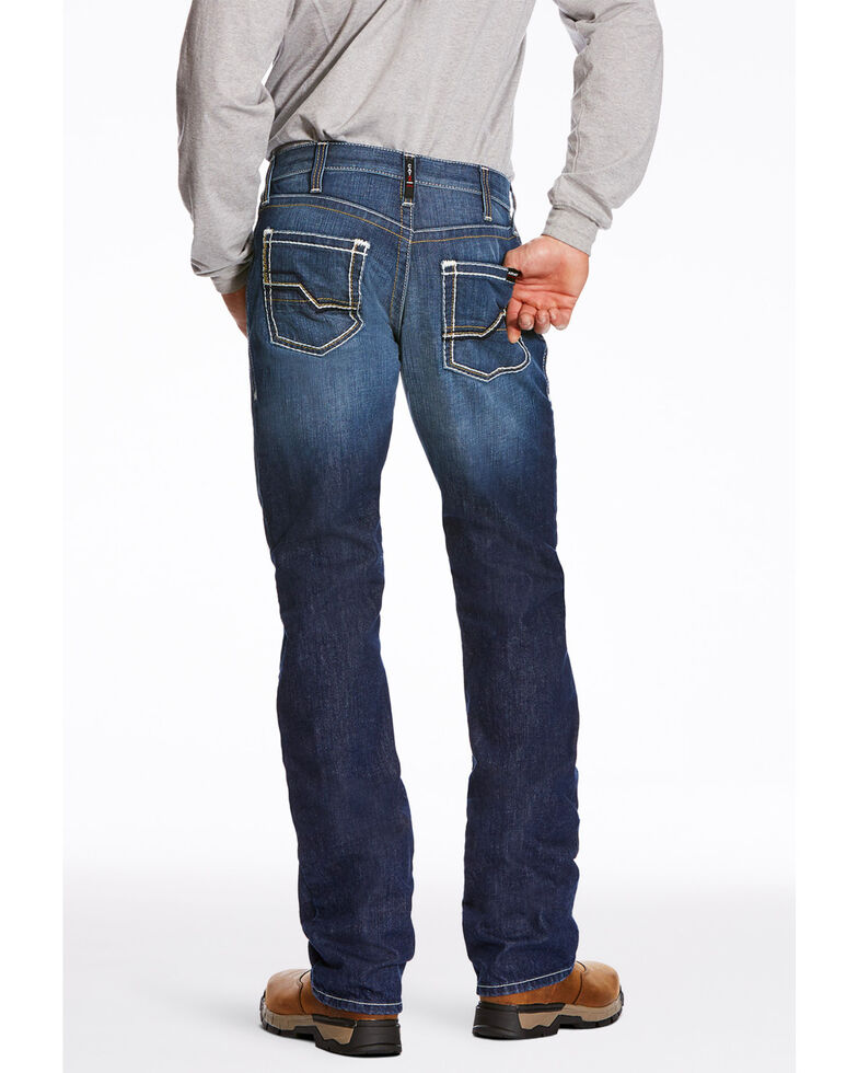 Ariat Men's M5 Ryley Slim Stackable Straight Leg Work Jeans , Blue, hi-res