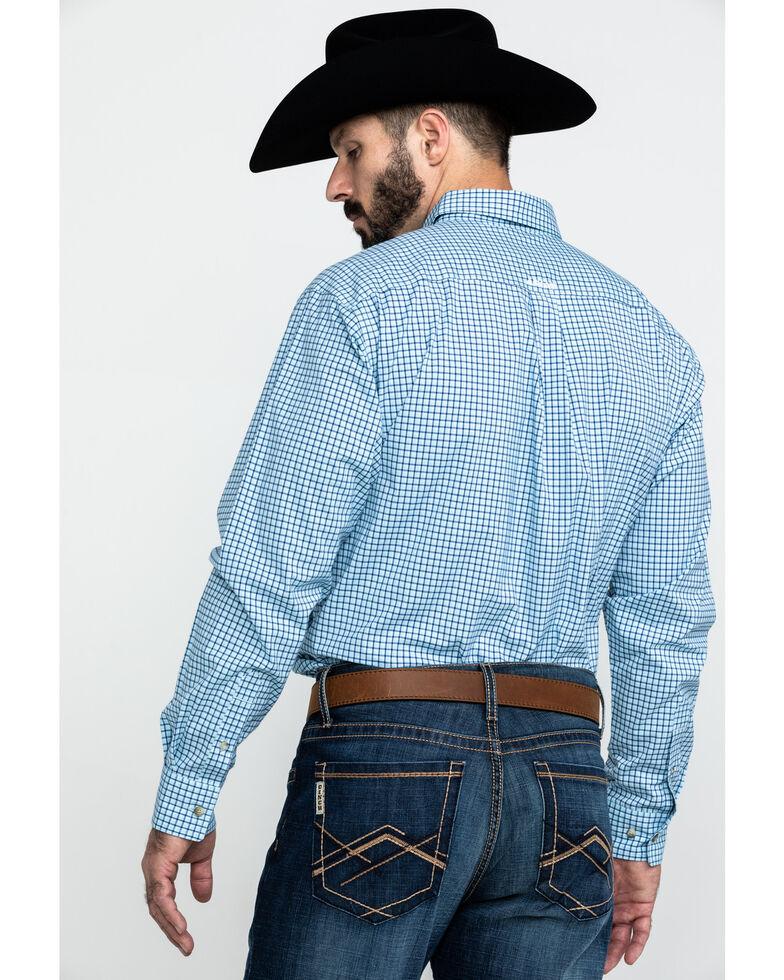 Ariat Men's Adamson Stretch Plaid Long Sleeve Western Shirt - Tall , Blue, hi-res