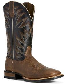 Ariat Men's Relentless Premier Western Boots - Wide Square Toe, Brown, hi-res