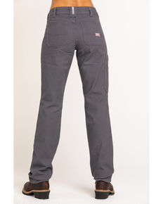 Ariat Women's FR Duralight Stretch Canvas Straight Leg Pants, Grey, hi-res