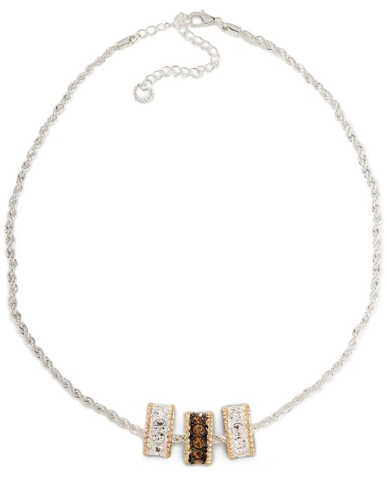 Montana Silversmiths Triple Charm Rope Necklace, Silver, hi-res