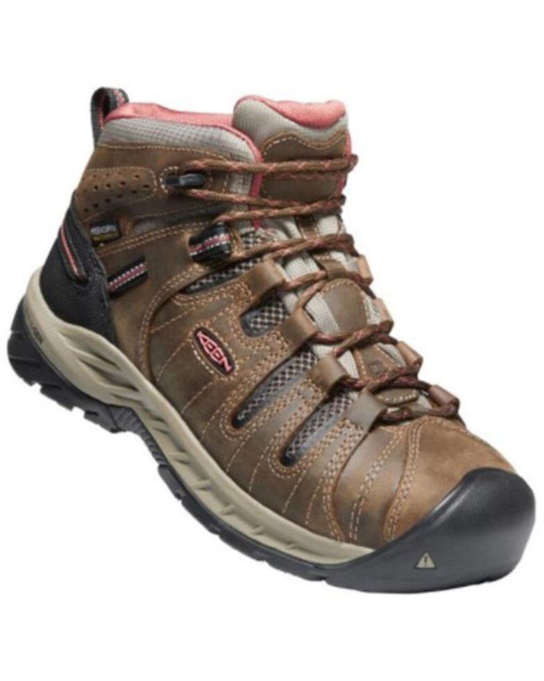 Keen Women's Flint II Waterproof Work Boots - Soft Toe, Brown, hi-res