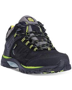 McRae Men's Black Industrial Mid-Height Met Guard Work Shoes - Steel Toe, Black, hi-res