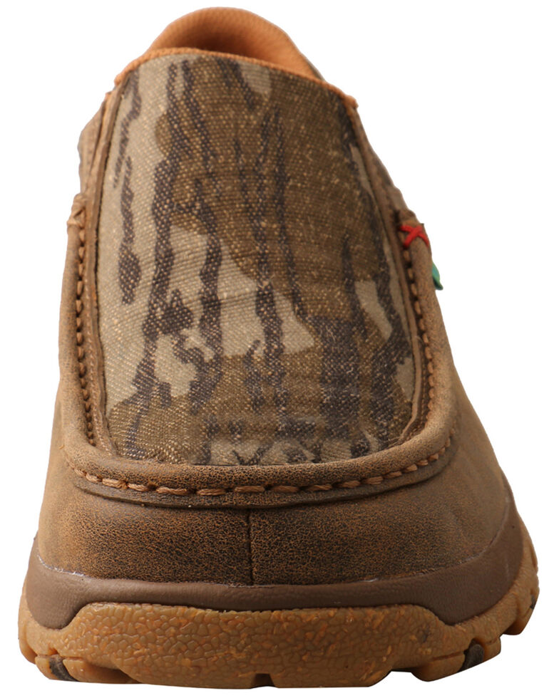 Twisted X Men's Mossy Oak Original Bottomland Chukka Driving Moc Shoes - Moc Toe, Camouflage, hi-res
