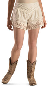 R Cinco Ranch Women's Shabby Chic Shorts, White, hi-res