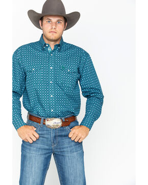 Wrangler Men's George Strait Troubador Shirt , Forest Green, hi-res