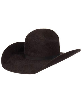 Oil Field Men's 10X Grizzly Charcoal Cowboy Hat, Charcoal, hi-res