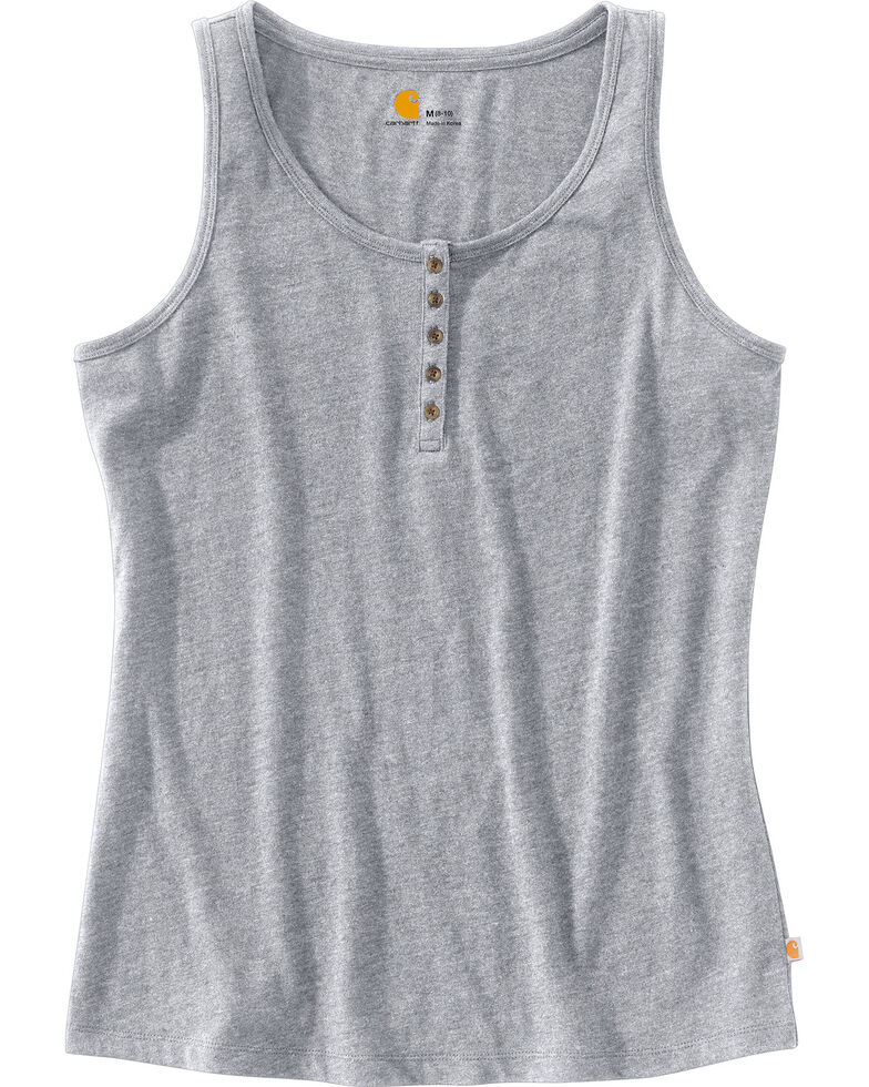 Carhartt Women's Lockhart Tank Top, Grey, hi-res