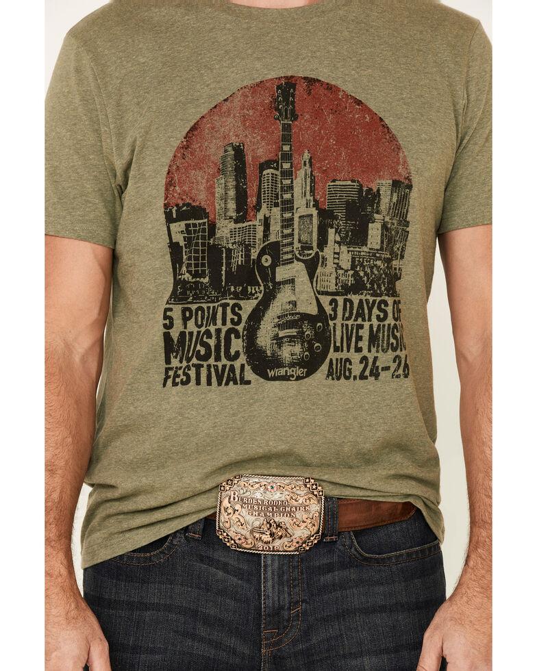 Wrangler Men's Green Music Festival Guitar Graphic T-Shirt , Green, hi-res
