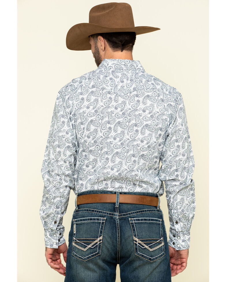 Cinch Men's Modern Fit Multi Paisley Print Long Sleeve Western Shirt , Multi, hi-res