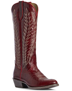 Ariat Women's Legacy Two Step Western Boots - Round Toe, Red, hi-res
