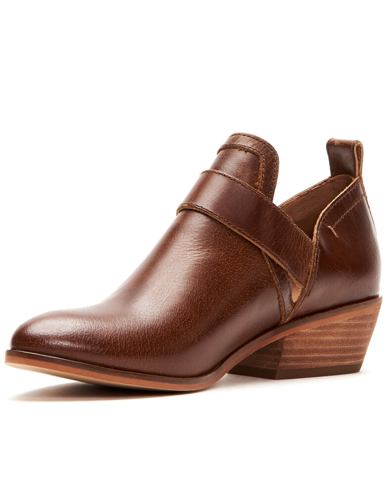 Frye & Co. Women's Rubie Moto Fashion Booties - Pointed Toe, Cognac, hi-res