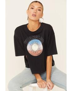 Wrangler Modern Women's Black Desert Sun Graphic Short Sleeve Oversized Crop Tee , Black, hi-res
