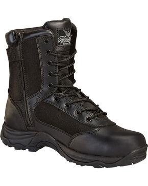 """Thorogood Men's 8"""" Station Side Zip Boots, Black, hi-res"""