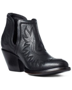 Ariat Women's Dixon Brooklyn Fashion Booties - Round Toe, Black, hi-res