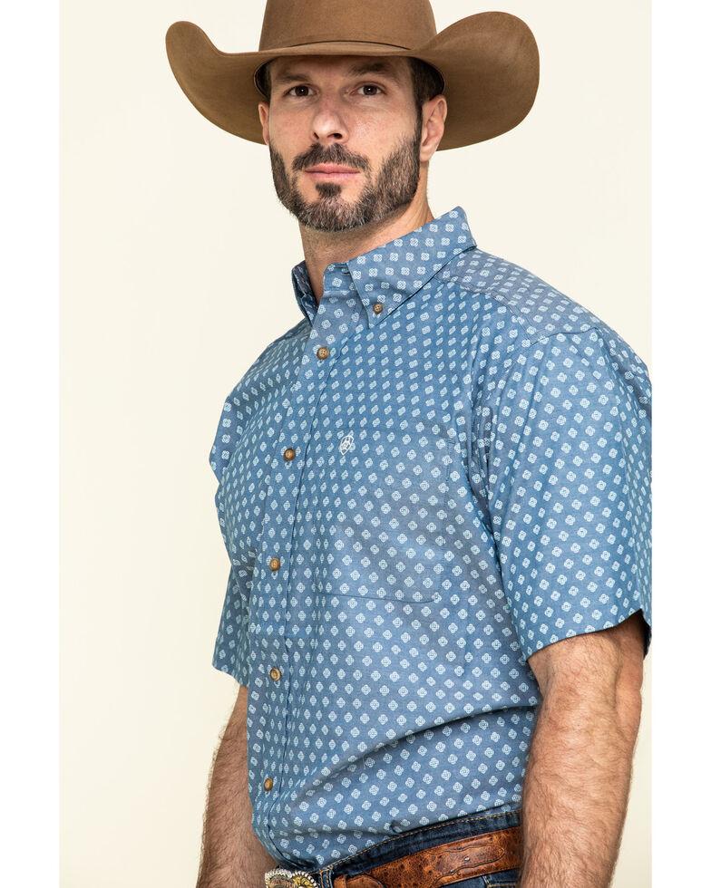 Ariat Men's Rossmoor Geo Print Short Sleeve Western Shirt - Big , Multi, hi-res