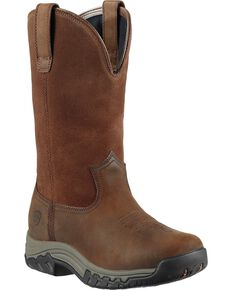 Ariat Women's Terrain H2O Pull-On Boots - Round Toe, Distressed, hi-res