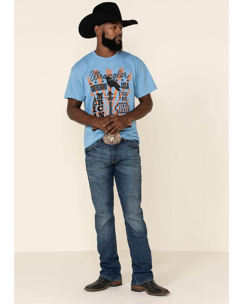 Wrangler Men's American Banjo Flyer Graphic T-Shirt , Light Blue, hi-res