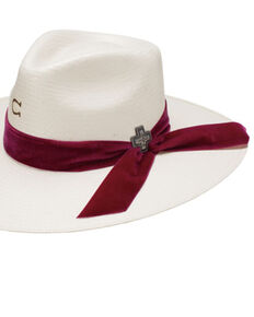 Charlie 1 Horse Women's 10X Truth Shantung Straw Western Hat , Natural, hi-res