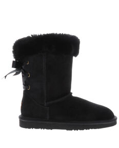 Lamo Footwear Women's Audrey Black Winter Boots - Round Toe, Black, hi-res