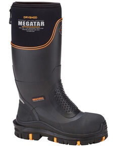 Dryshod Men's Megatar Steel Toe Work Boots, Black, hi-res