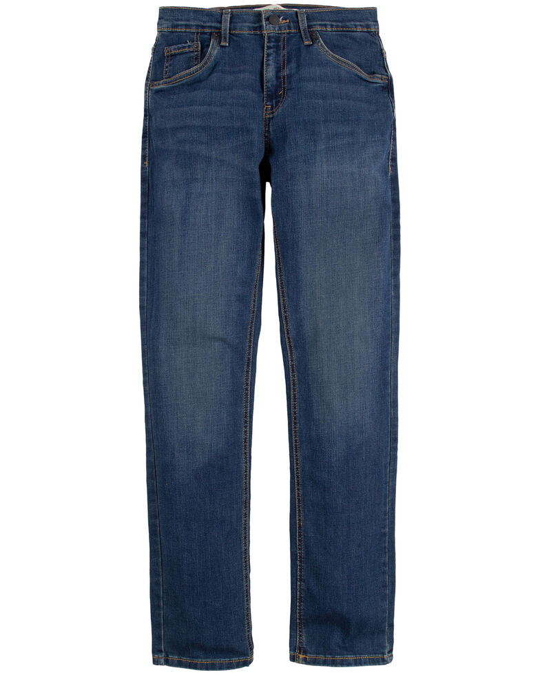 Levi's Boys' 511 Evans Faded Blue Slim Straight Jeans , Dark Blue, hi-res