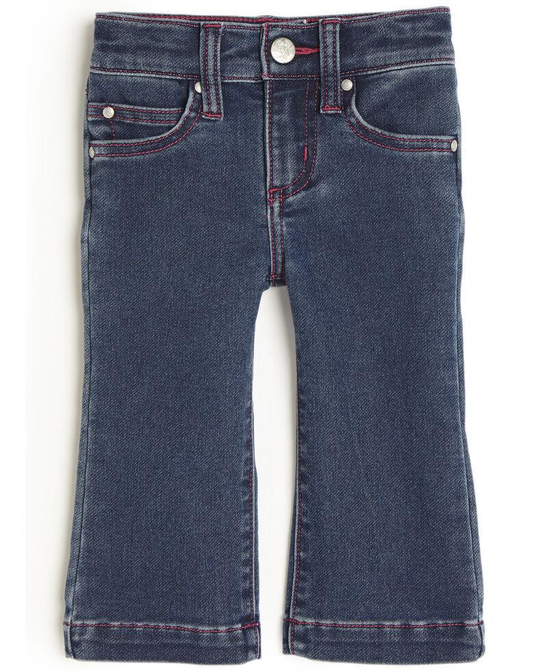 Wrangler Infant Girls' Pink Stitch Trousers , Blue, hi-res