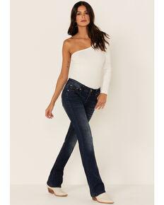 Grace in LA Women's Simple Western Medium Wash Mid Rise Skinny Jeans, Blue, hi-res