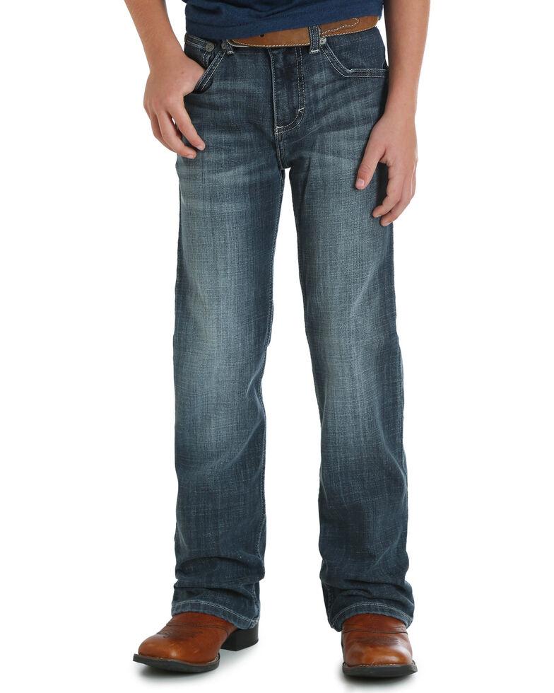 Wrangler 20X Boys' (8-16)  No. 42 Vintage Bootcut Jeans, Blue, hi-res