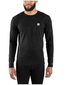 Carhartt Men's Solid Black Force Midweight Tech Crew Long Sleeve Thermal Work Shirt , Black, hi-res