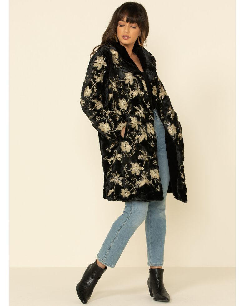 Johnny Was Women's Blithe Faux Fur Jacket, Black, hi-res