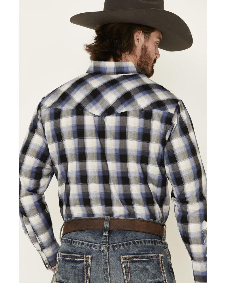 Ely Walker Men's Black Small Plaid Long Sleeve Western Shirt - Tall, Black, hi-res