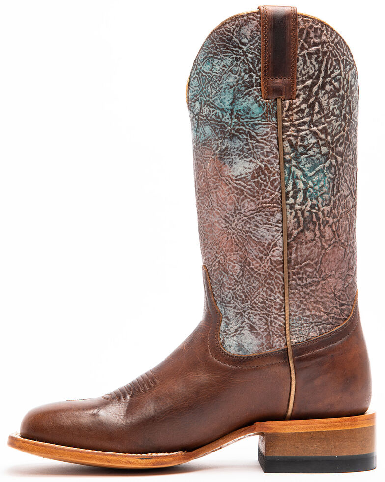 Shyanne Women's Chocolate Verbena Western Boots - Square Toe, Chocolate, hi-res