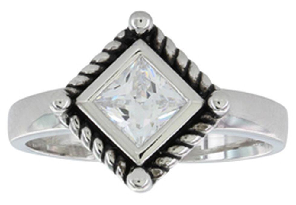 Montana Silversmiths Women's Roped Star Light Ring, Silver, hi-res