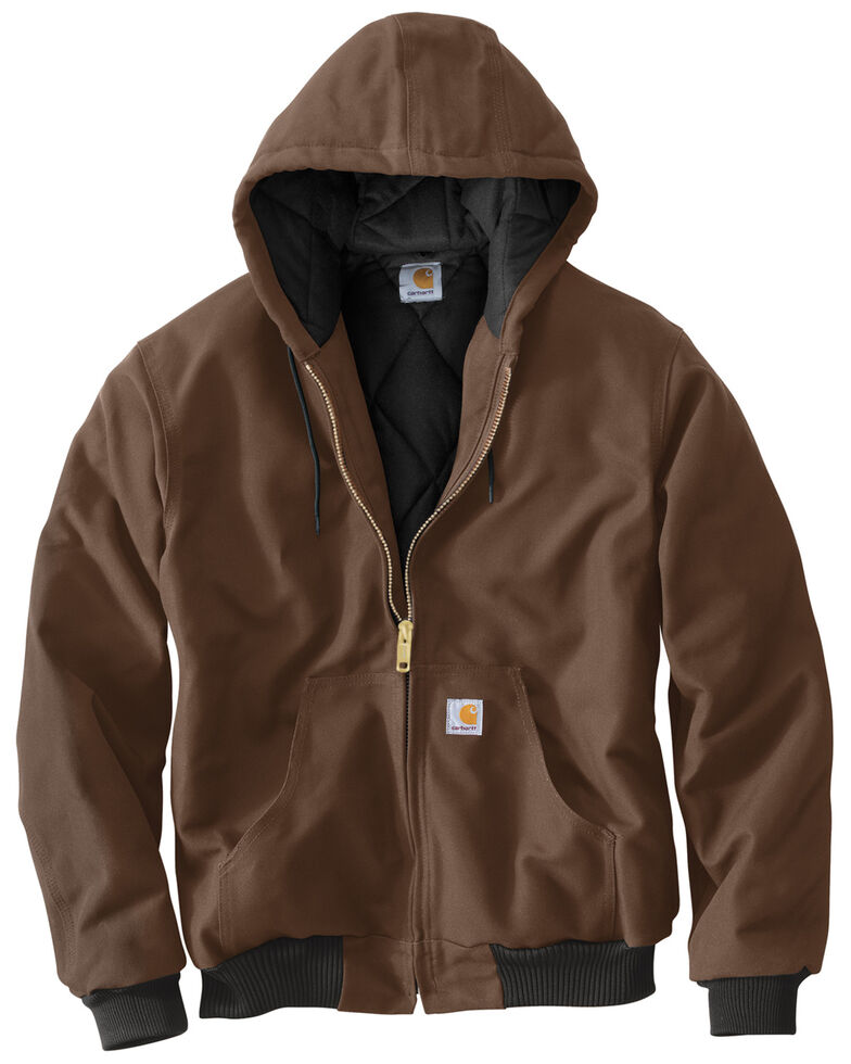 Carhartt Quilted Flannel-Lined Duck Active Jacket, Chocolate, hi-res