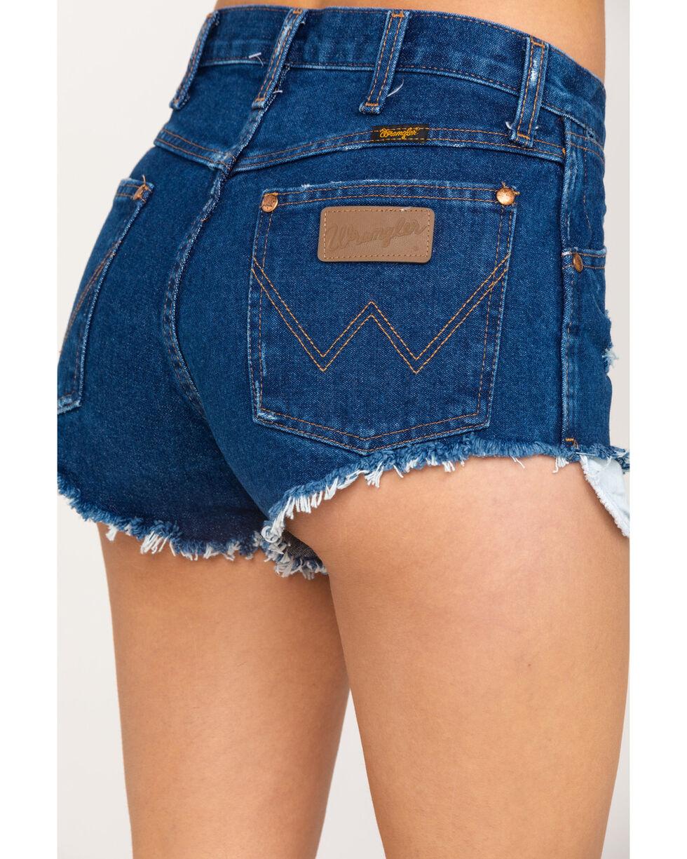 Wrangler Women's Modern Dark Wash Heritage Shorts, Blue, hi-res