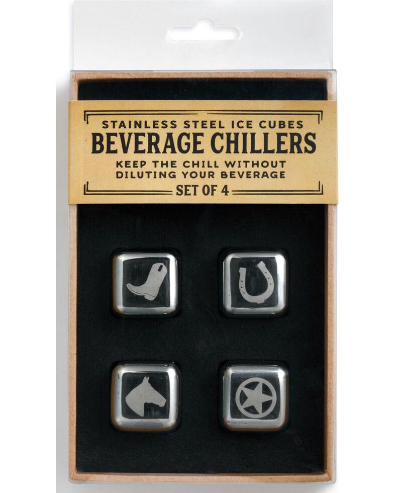 Demdaco Silver Western Beverage Chiller Set , Silver, hi-res