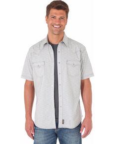 Wrangler Retro Men's Grey Short Sleeve Western Shirt , Light Grey, hi-res