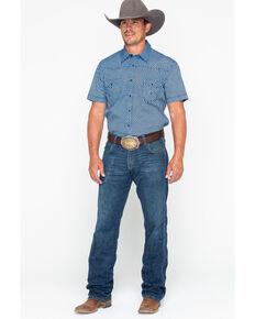 Rock & Roll Denim Men's Crinkle Washed Poplin Short Sleeve Western Shirt, Black, hi-res