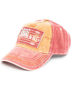 Shyanne Women's Rust Rough Flag Patch Cap , Rust Copper, hi-res